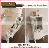 Teem home bathroom furniture wood material bathroom sets mirrored bath cabinet