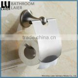 Customized Understated Design Covered Zinc Alloy Brush Nicked Bathroom Sanitary Items Wall Mounted Toilet Paper Holder