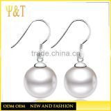 Wholesale 925 Sterling Silver Earrings Women Ladies Shell Pearl Stud Earrings High Quality New Fashion Anti-allergic Earrings
