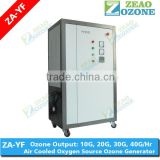 air cooled and oxygen feed ozone generation machine for swimming pool and aquaculture water sterilization