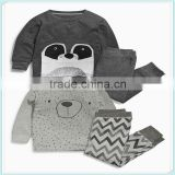 Clothes clothing sets suits kids boy&girls babys pajamas children two piece sleepwearcute bear t-Shirt tops+Pants 2Pcs