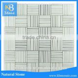 Kbstone china white natural pumice stone marble mosiac