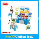 Zhorya Wholesale 2 in 1 multi-function baby learning toys with sound and light lovely garden play set chair