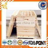 With low price Chinese plastic bee hive / fir wood langstroth bee hive /pine wooden bee hive