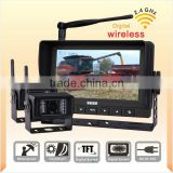2.4GHz Digital Wireless Monitor Camera system for tractor harvester monitor Poultry and the baby