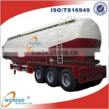 Tri-axle 52T V shape Bulk Cement Tank Trailer, Bulk Cement Powder Tanker Trailer For Sale