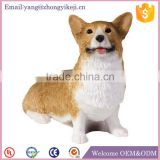 Home deocr lovely resin dog statue handmade craft from waste material