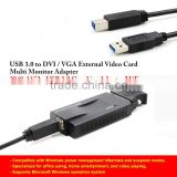 USB 2.0 3.0 to DVI/VGA External Video Card Multi Monitor Cable Adapter Converter for Mac or PC - 1920x1200 USB 3.0 to VGA DVI