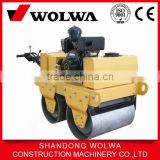 high quality 550kg double drum walking behind mini hydraulic vibrating road roller compactor