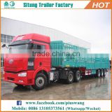 Factory direct 3 axle livestock transportation stake fence cargo truck semi trailer for sale