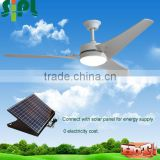 Vent tool hot selling 60 inch solar panel powered cooling fan 24V dc motor 0 electricity cost solar ceiling fan