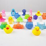 spray water animals rubber bath toy,Soft stress toy animal bath toys,pvc floating bath animal toys