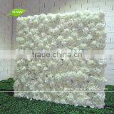 GNW 5ft white artificial rose and hydrangea flower wall hanging decoration for wedding background decoration