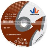 7''Resin Bonded Reinforced abrasives cutting wheel for aluminum with EN12413 &ISO9001