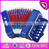 Most popular children gift toy wooden musical piano accordion for sale W07K006B