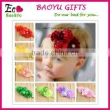 2015 Lastest Nice Baby Girl Flower Headband Baby Headband Wholesale Daisy Flower Crown Elastic Headband