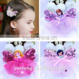 baby girls hair accessories princess Frozen butterfly hair clips