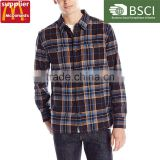 blow 3dollar oem factory yellow plain mens flannel shirt for cheap price