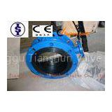Ductile Iron / Cast Iron / WCB Wafer Butterfly Valves , Lever or Gear Flange Butterfly Valve