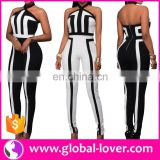 Wholesale summer adult onesie plus size sexy rompers halter neck womens jumpsuit