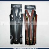 2014 2015 wholesale mens leather suspenders printed suspenders with custom design and lower moq lower prices
