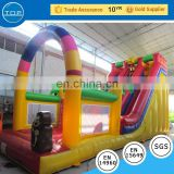 Multifunctional adult bouncy castle water park slides for sale fire truck bounce house with high quality