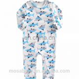 Ins Popular Baby Outfit Long Sleeves Soft Cotton Shark Printing Suit for 0-24 Months