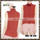 custom new design t-shirt blank quick dry sleeveless t shirt women fashion golf t shirts