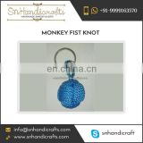 Small Size Monkey Fist Knot Keychain Available at Bulk Price