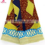 African Lace fabrics with Guipure lace Ankara material with stones wax printed Nigeria design