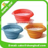 Transparent folding silicone pet bowl