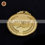 Wr Art Crafts Quality 24k Gold Foil Sport Medal Wholesale Metal Badminton Game Medal