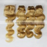 Big stock lace closure hair piece best selling hand tied blonde hair bundles with lace closure