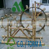 Landscape Water Wheel 100% Bamboo Material