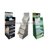 OEM design recyclable accessories cardboard corrugated display shopping mall display rack