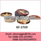 New Type Round Ceramic Decorative Promotion Plate for Ceramic Christmas Penguin Plate