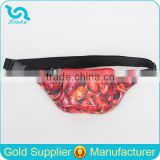 Fashion Crawfish Print Polyester Waist Bag Sport Waist Bag Men Waist Bags OEM