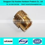 Turning milling drilling high precision m4 m6 m8 brass insert nut