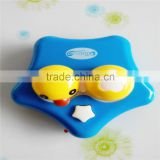 cute duck vibrating contact lens cleaning solution case