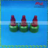 green and red color long nozzle plastic cap,pointed mouth screw cap for plastic squeeze bottle