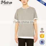 2016 Wholesale Mens Short Sleeve Ash Grey Sweatshirts