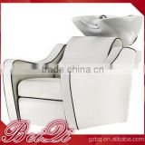 Beiqi 2016 Backwash Ceramic Shampoo Bowl Sink Chair Unit Station Beauty Spa Salon Equipment