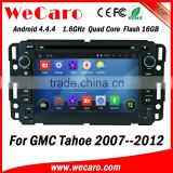 Wecaro WC-GU7036 Android 4.4.4 gps indash for GMC Tahoe car radio navigation system 2007 - 2012 BT gps 3g TV