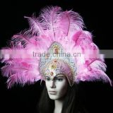 Comely and Beauty Feather Headdress Indian Ostrich Feather Headdress