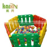 Colorful baby playground equipment colorful plastic fence toy