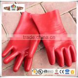 FTSAFETY Lengthen PVC Gloves Industrial Safety Gloves Cotton Cloth Glove Core Coating rubber