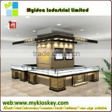 custom MDF wood store fixtures glass display case jewelry showcases wall cabinets counters