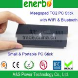 Meegopad T02 Smart Mini PC Windows 8 TV Box 2GB Ram/32G Rom Intel Atom Z3735F 2 Etherner Mini PC Server HD Graphic GPU 1.33GHZ