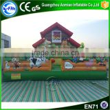 2016 hot slae inflatable farm playground, indoor playground equipment, inflatable children playground for sale