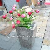 Granite stone decorative flower vases